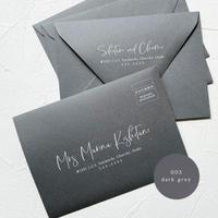 003_dark grey envelope |  宛名 / 別納印 / 差出人印刷込み 10部