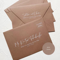 002_sand envelope |  宛名 / 別納印 / 差出人印刷込み 10部