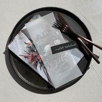 menu_clarté | 白印刷 | 10部