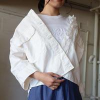 C/リネンカルゼ8分袖ARMYシャツ【BB82-117】