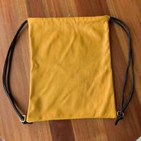 革のナップサック 黄色 x 茶色