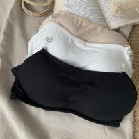 サイズ調節可能・クリア肩紐付き万能ブラトップ