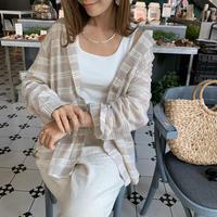 cotton100%ラフサマーチェックシャツ