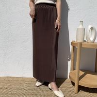 プリーツリラックスタイトスカート