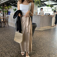 リネン美ラインリボンラップスカート