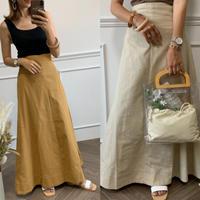 cotton100%フレアマキシスカート