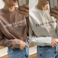 cotton100%ロゴロングTシャツ