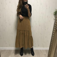 12/26入荷デザインスエード調スカート
