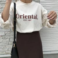 9/20入荷cotton100%ビッグシルエットorientalロゴT