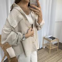 リネンスプリングジシャツジャケット