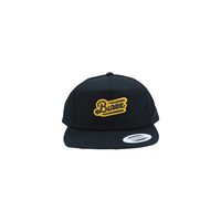 MOCO LOGO Unstructured 5-Panel Snapback [BLACK]