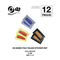 KG MADE ITALY BLAZZ STICKER SET