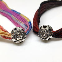 SILK RIBBON ROSE BALL SILVER / シルク リボン ローズ ボール SILVER