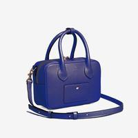 BLEUET MINI BOSTON BAG / BOX【NAVY BLUE】