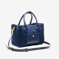 BLEUET MINI TOTE BAG 【DENIM  NAVY x NAVY BLUE】