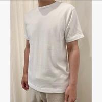 MENS スーピマ吊天竺クルーネック半袖Tシャツ