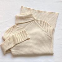 カシミヤコットン 無縫製リブタートル