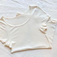 プリント付きセーターイン半袖T
