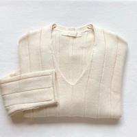 ワイドリブ セーター