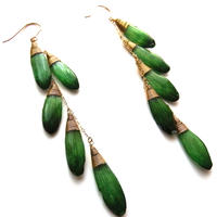 ガーベラピアス(緑)DASY EARRING(GREEN)