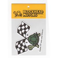 チェッカーフラッグタートルステッカー / Checker flag turtle sticker
