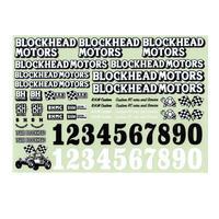 BLOCKHEAD MOTORSオリジナルデカールシートVer.3