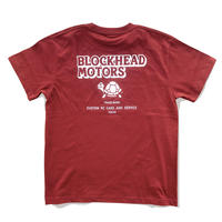 BLOCKHEAD MOTORS スタンダードTシャツ(バーガンディ)