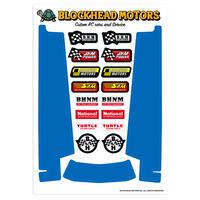 シャーシ用デカール Ver2 ブルー(ホーネット・グラスホッパー用)/ Decal for side chassis Blue for  Hornet, Grasshopper