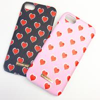 【iPhone X/ピンク】スワロフスキーハートケース