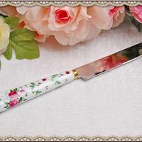 ■イングリッシュローズ ナイフ 【薔薇雑貨 プリンセス雑貨 姫系 ロマンチック アンティーク レトロ 花柄 洋食器 テーブルナイフ】