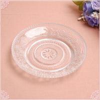 【リーズナブルプライス!】■カットガラスプチプレート12cm