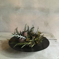 Dried Frower Mini Wreath With Iron Plate Type A (アイアンプレート付きミニリース A)