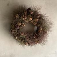 Dried Nigella & Smoke Tree Wreath (ニゲラとスモークツリーのリース)