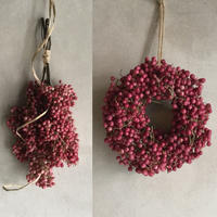 Dried Pinkpepper's Wreath&Swag(ピンクペッパーのリース&スワッグ)