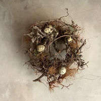 """Birds nest wreath """"Wagtail"""" (バーズネストリース・ワグテール)"""