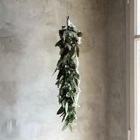 Antique Hydrangea & Eucalyptus Garland Swag 360 (アンティーク紫陽花とユーカリのガーランドスワッグ 360°)