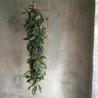 Autumn Hydrangea  & Eucalyptus Garland Swag 360 (秋色紫陽花とユーカリのガーランドスワッグ 360°)