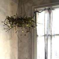 Dried mistletoe Hanging wreath (ヤドリギのハンギングリース)