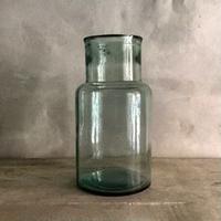 Blue Glass Bottle Flower Vase (ブルーガラスボトル フラワーベース)
