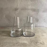 Nordic Style Pair of Glass Vases (ノルディックスタイル・ペアグラス フラワーベースセット)2in1