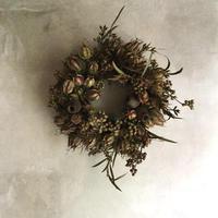 Dried Nigella & Eucalyptus Wreath Ver,2 (ニゲラとユーカリの実のドライリース V2)
