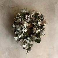 Silver Leaf Mix Wreath (ギンドロと紫陽花のシルバーリーフリース)
