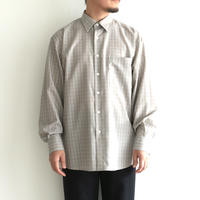 AURALEE / SUPER LIGHT WOOL CHECK SHIRTS(Men's/GRAY CHECK)