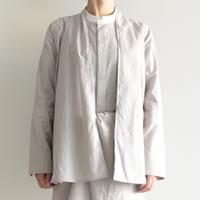 COSMIC WONDER /  Light linen haori shirt(lady's/GRAY STRIPE )
