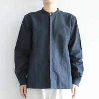 えみおわす /stand-up collar shirt(lady's /Dark Navy)