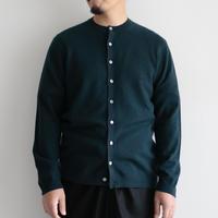 糸衣itoi/カシミヤクルーネックカーディガン(Men's,Green)