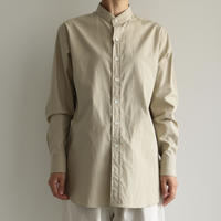 AURALEE / WASHED FINX TWILL SHIRTS (Lady's/ LIGHT KHAKI)