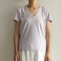 AURALEE / SEAMLESS V-NECK TEE(lady's/LIGHT PURPLE)