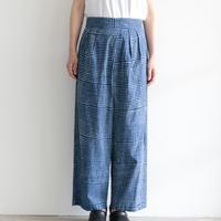 Khadi and Co / Hand Print Cotton Pants〈IRIS〉 (lady's /indigo)