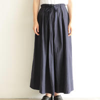 Khadi and Co / long skirt(lady's /DK.INDIGO)